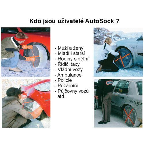 Textilní sněhové řetězy AutoSock velikost 698